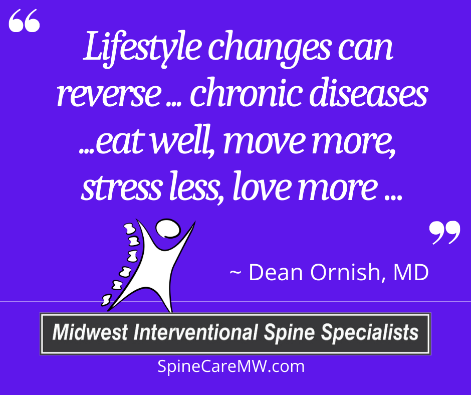 """Inspirational Quote of the Week – """"Lifestyle changes can reverse…chronic disease …"""
