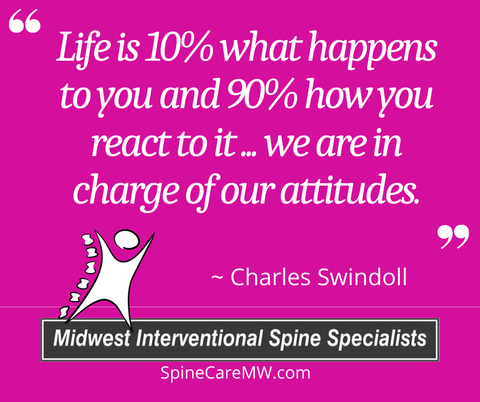 """Quote of the Week: """"Life is 10% what happens to you and 90% …"""